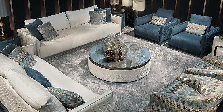 Azul macaubas l intenso marmo blu per i tavoli di lusso for Tavoli di design in marmo