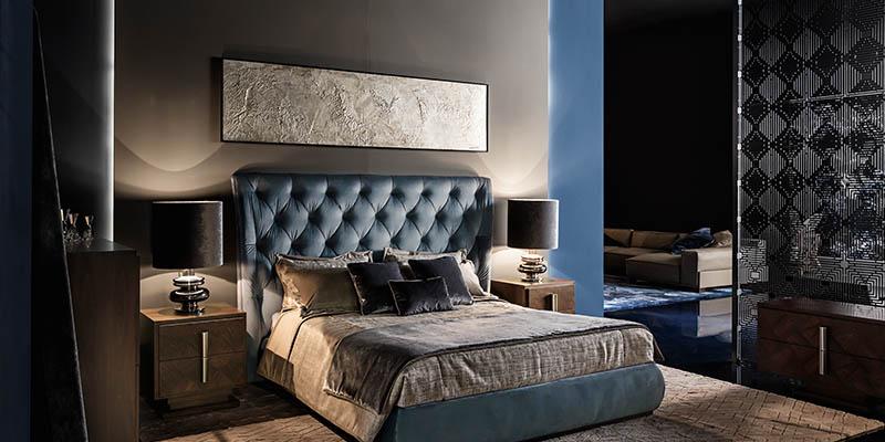 arredamento camera da letto matrimoniale classica Smania